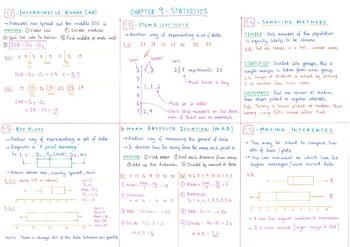7th Grade Math - Statistics Revision Sheet