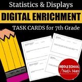 7th Grade Math Statistics and Displays Digital Enrichment