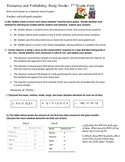 7th Grade Math Statistics and Probability Study Guide or Review