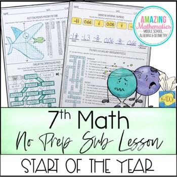 7th Grade Math Sub Lesson