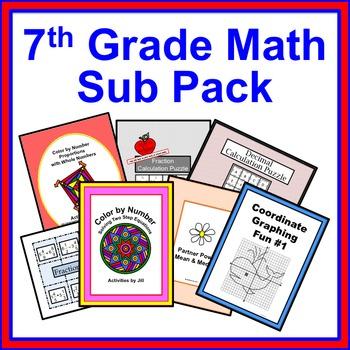 7th Grade Math Sub Pack
