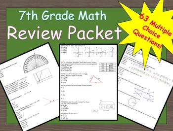 7th Grade Math Summer Review Packet