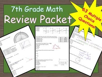 7th Grade Math Summer Review Packet