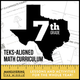 7th Grade Math TEKS Curriculum Bundle