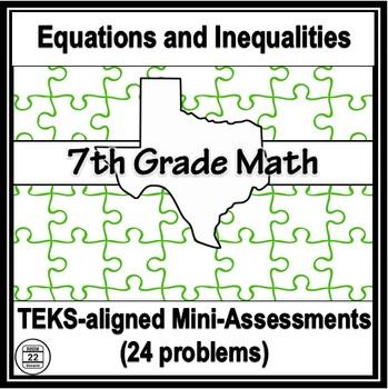 7th Grade Math TEKS Equations and Inequalities