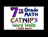 7th Grade Math TEKS Flash Cards