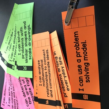 7th Grade Math TEKS I Can Statement Punch Cards