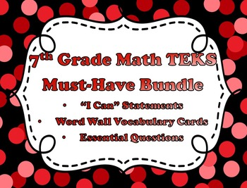 7th Grade Math TEKS Must-Have Bundle