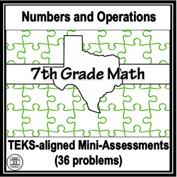 7th Grade Math TEKS Numbers and Operations