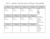 7th Grade Math TEKS Pacing Guide EDITABLE