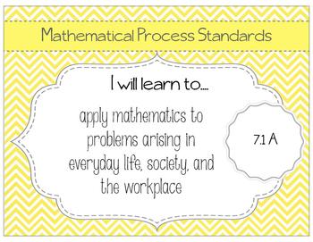 7th Grade Math TEKS Posters