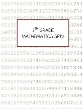 7th Grade Math TN SPI Date Tracker