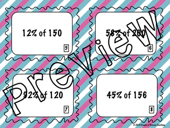 7th Grade Math Task Card Bundle