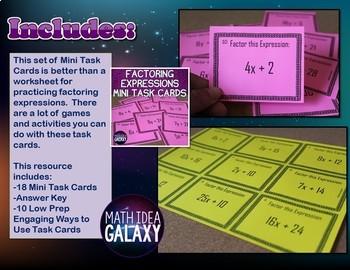 7th Grade Math Task Cards