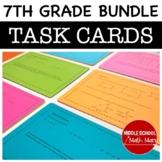 7th Grade Math Task Cards Bundle