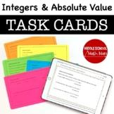 7th Grade Math Task Cards - Integers