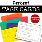 7th Grade Math Task Cards - Percent