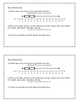 7th Grade Math Task Cards - Statistics and Displays