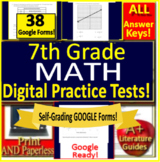 7th Grade Test Prep Math Practice Tests Spiral Review CCSS Smarter Balanced
