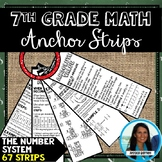 7th Grade Math The Number System Anchor Strips