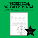 7th Grade Math Theoretical & Experimental Probability Activity 7.SP.7