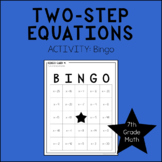 7th Grade Math Two-Step Equations BINGO