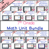 7th Grade Math Units Bundle Common Core Math