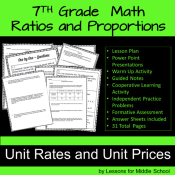 7th Grade Math – Unit Rates and Unit Prices