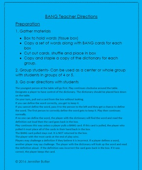 7th Grade Math Vocabulary Games with Definitions, Word lis