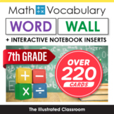 Math Word Wall & Interactive Notebook Inserts for 7th Grade