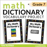 7th Grade My Math Dictionary & Teacher Tools TEKS Aligned