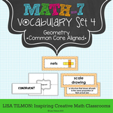 7th Grade Math Vocabulary Word Wall (SET 4: Geometry)