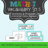 7th Grade Math Vocabulary Word Wall (SET 5: Statistics and