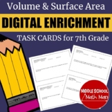 7th Grade Math Volume and Surface Area Digital Enrichment