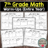 7th Grade Math Warm-Ups (Entire Year of Warmups)