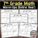 7th Grade Math Warm-Ups (Entire Year of Warmups) DISTANCE