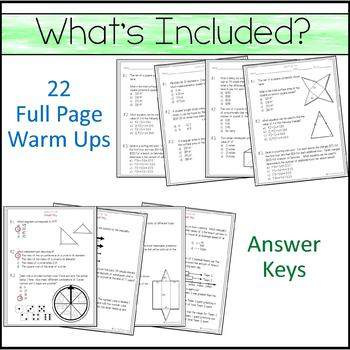 7th Grade Math Warm Ups - STAAR Prep