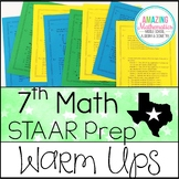7th Grade Math Warm Ups - STAAR Review & Prep