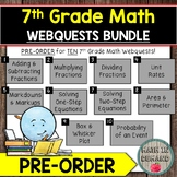7th Grade Math Webquests PREORDER