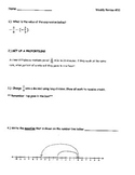 7th Grade Math Weekly Review #10