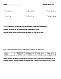 7th Grade Math Weekly Review #11