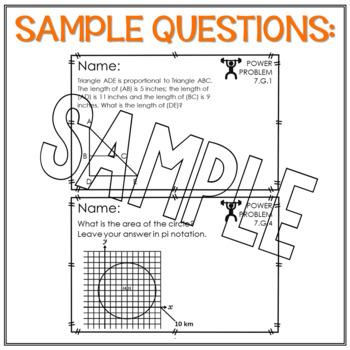 7th Grade Math Word Problems Geometry Math Review Test Prep