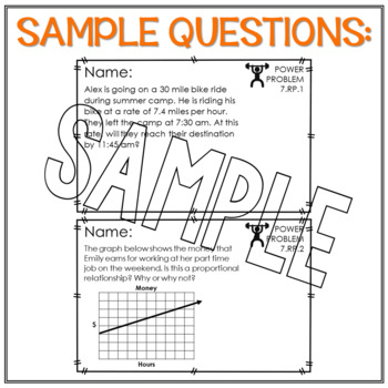 7th Grade Math Word Problems Ratio and Proportions Math Review Test Prep