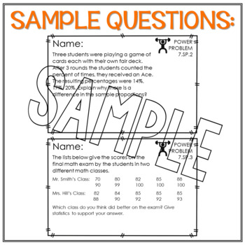 7th Grade Math Word Problems Statistics and Probability Math Review Test Prep