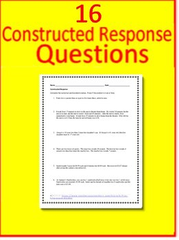 7th Grade Math Word Problems with Four Operations:  Test Prep Practice Tests