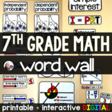 7th Grade Math Word Wall