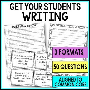 7th Grade Math Writing Prompts