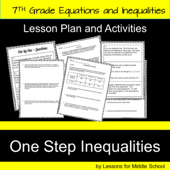 7th Grade Math – Writing and Solving One-Step Inequalities