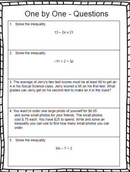 7th Grade Math – Writing and Solving Two-Step Inequalities