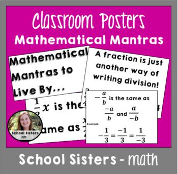 7th Grade Mathematical Mantras
